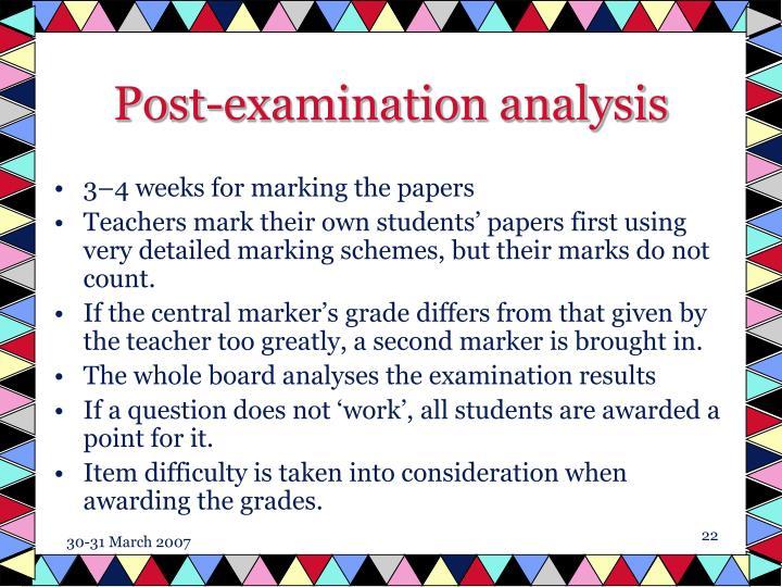 Post-examination analysis