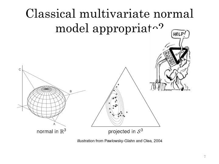 Classical multivariate normal model appropriate?