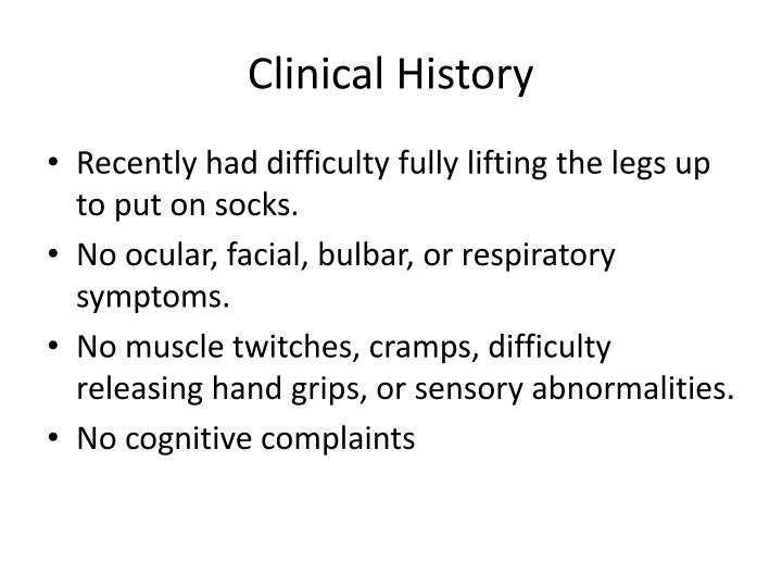 Clinical history1