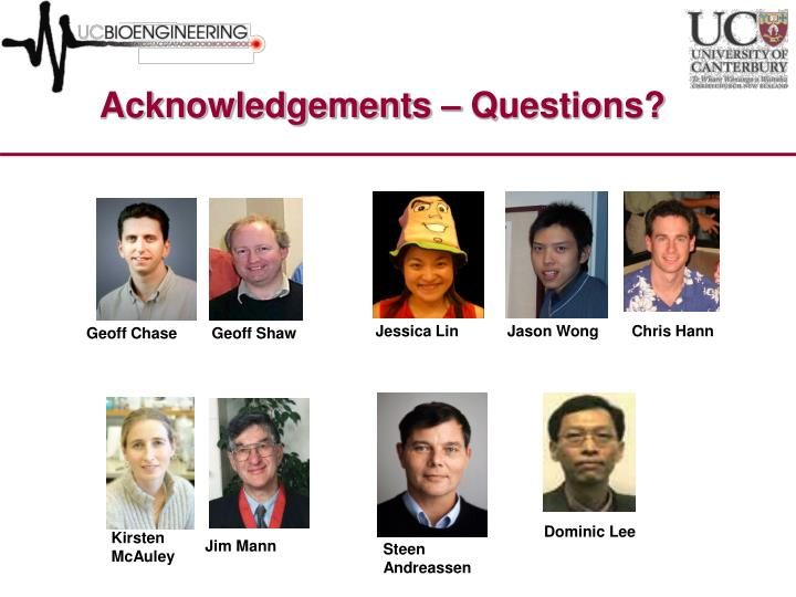 Acknowledgements – Questions?