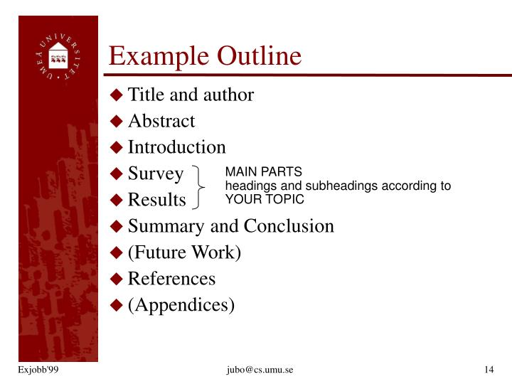 Example Outline