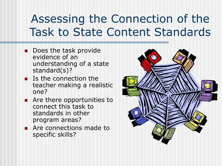 Assessing the Connection of the Task to State Content Standards