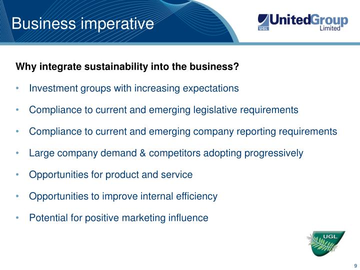 Business imperative