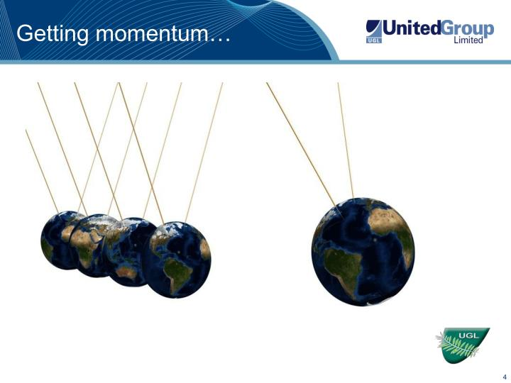 Getting momentum…