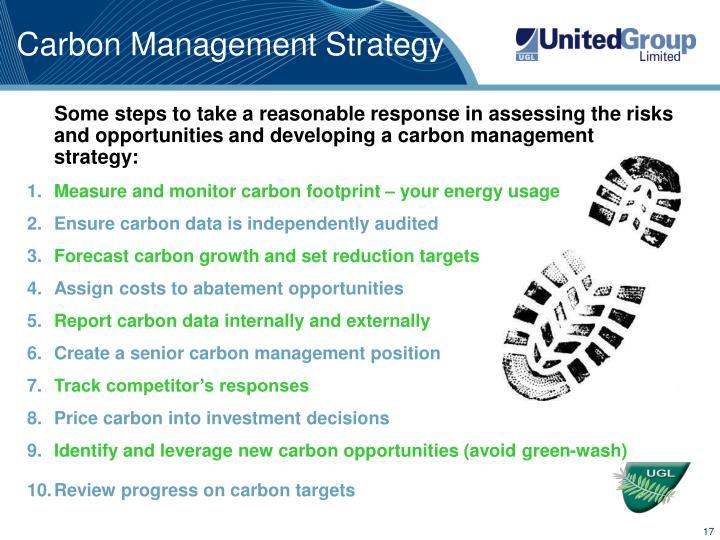 Carbon Management Strategy