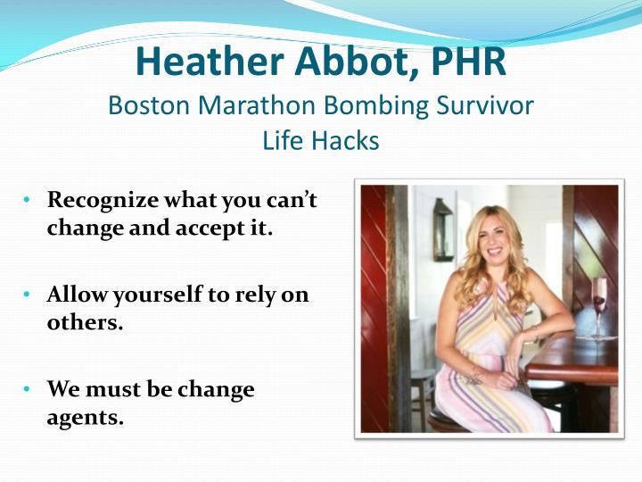 Heather Abbot, PHR