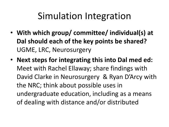 Simulation integration1