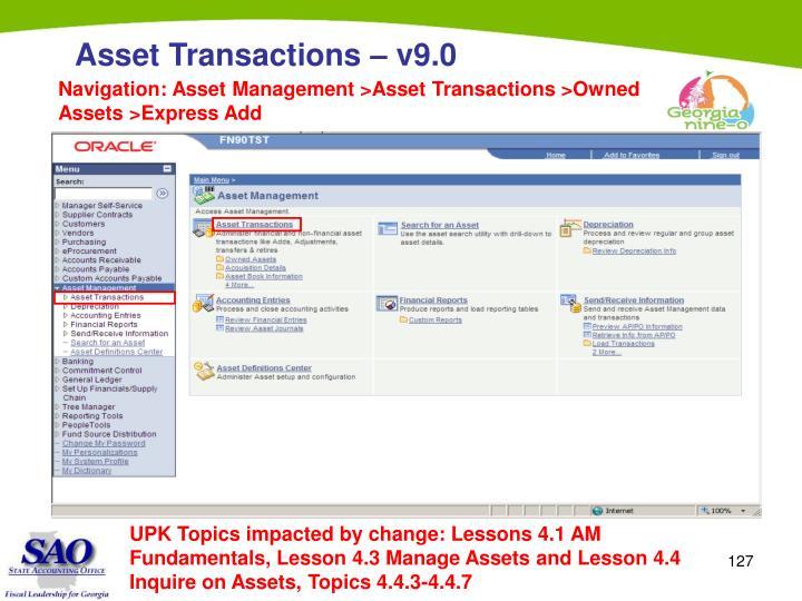 Navigation: Asset Management >Asset Transactions >Owned Assets >Express Add