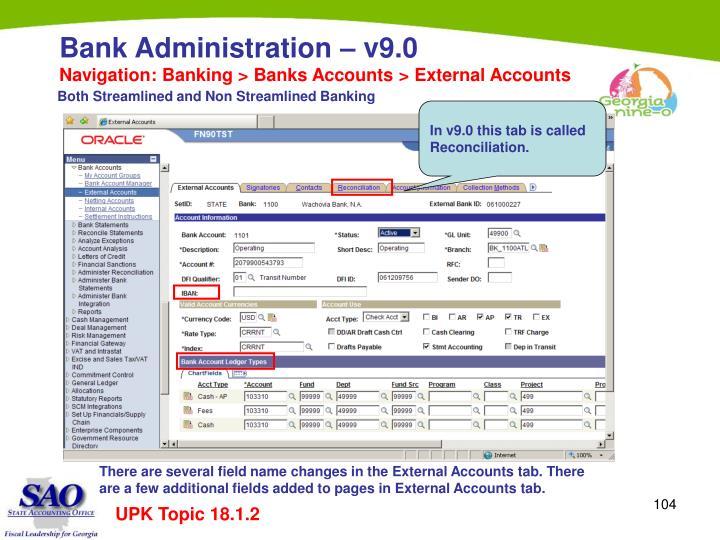Navigation: Banking > Banks Accounts > External Accounts