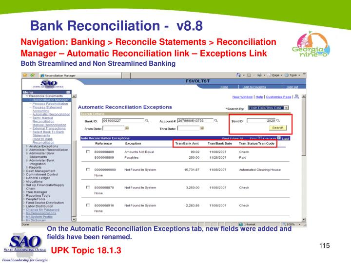 Navigation: Banking > Reconcile Statements > Reconciliation Manager