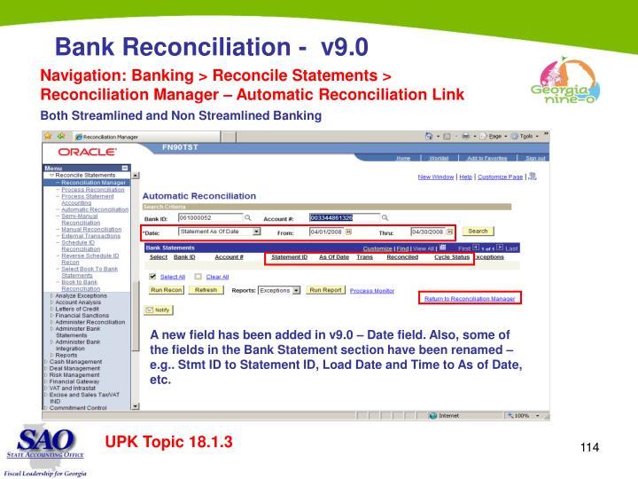 Navigation: Banking > Reconcile Statements > Reconciliation Manager – Automatic Reconciliation Link