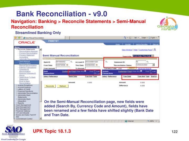 Navigation: Banking > Reconcile Statements > Semi-Manual Reconciliation