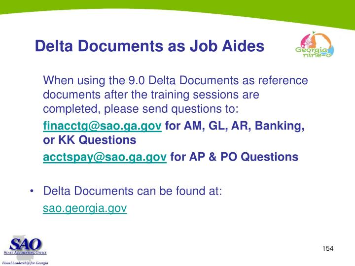 Delta Documents as Job Aides