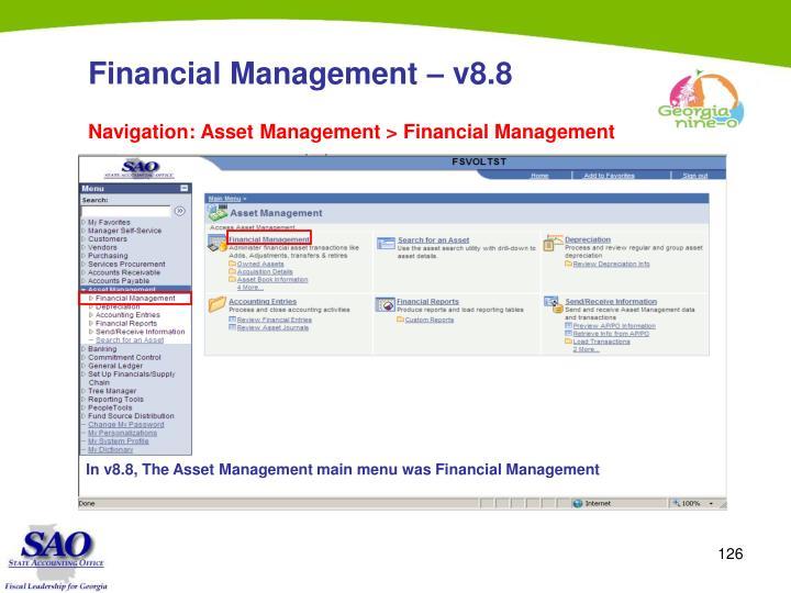 Financial Management – v8.8