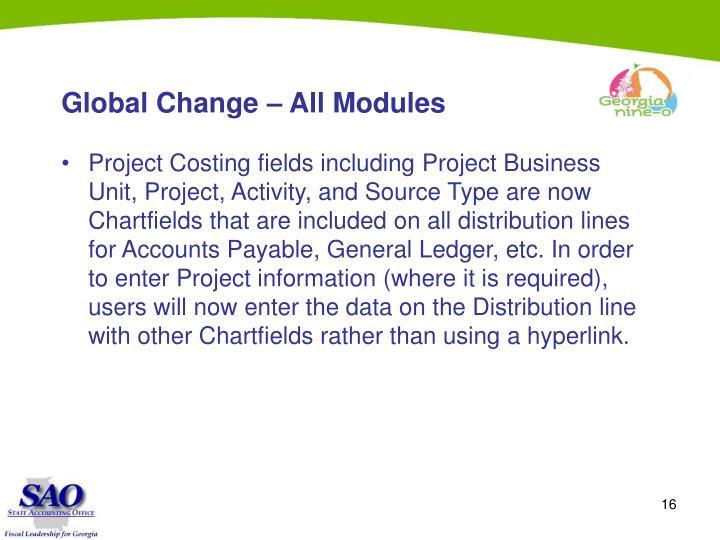 Global Change – All Modules