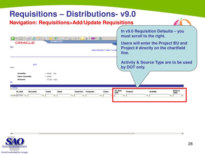 In v9.0 Requisition Defaults – you must scroll to the right.