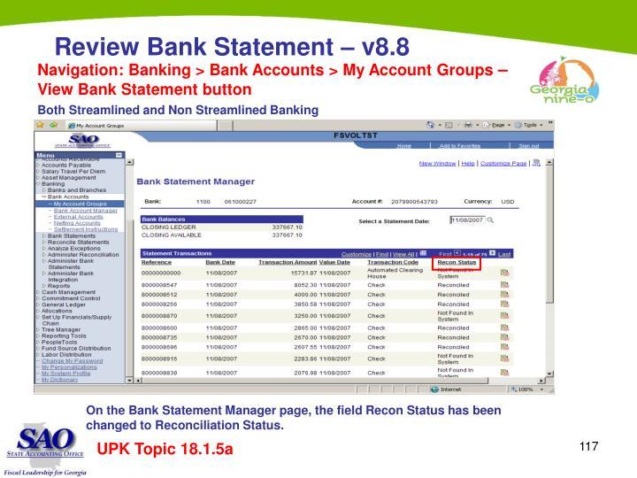 Navigation: Banking > Bank Accounts > My Account Groups