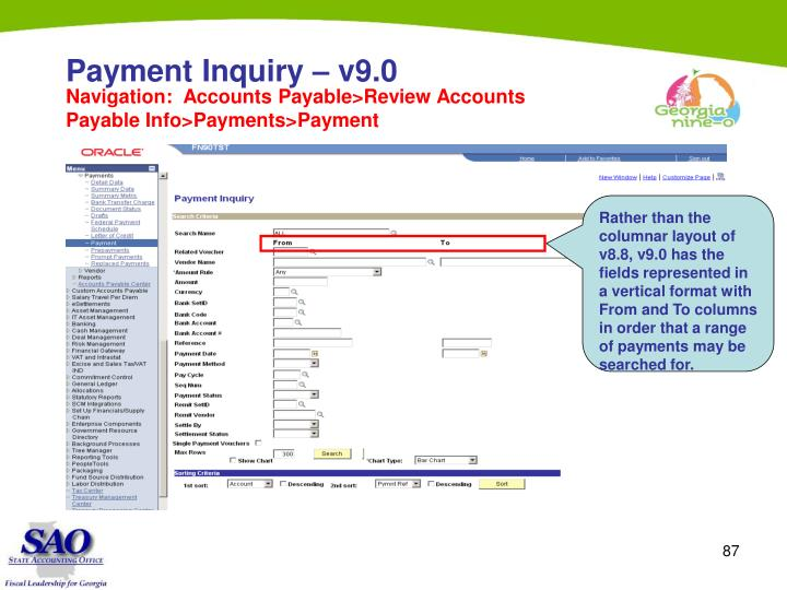 Payment Inquiry – v9.0