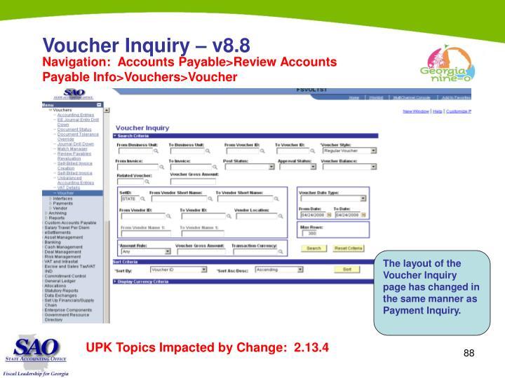 Voucher Inquiry – v8.8