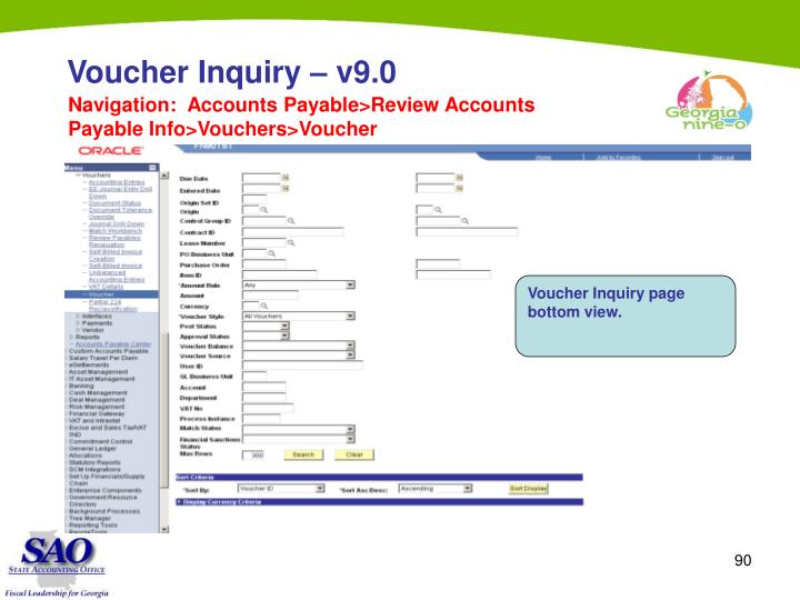 Voucher Inquiry – v9.0