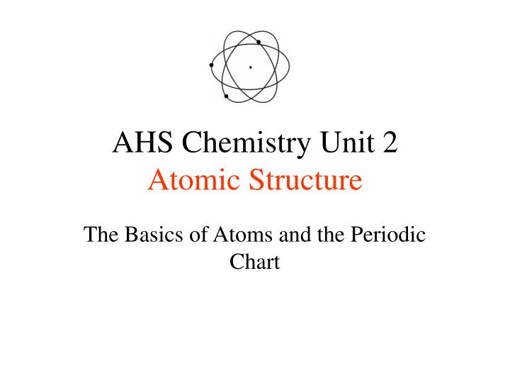 ahs chemistry unit 2 atomic structure n.