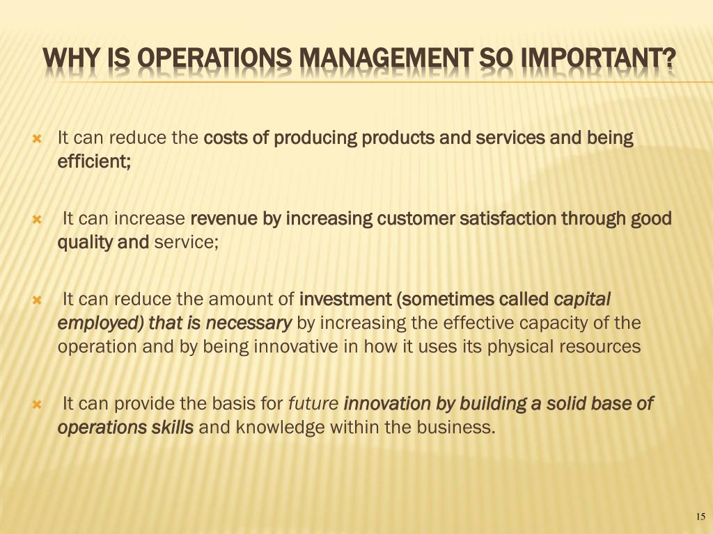 PPT - Dom 102: Principles of Operations Management Overview