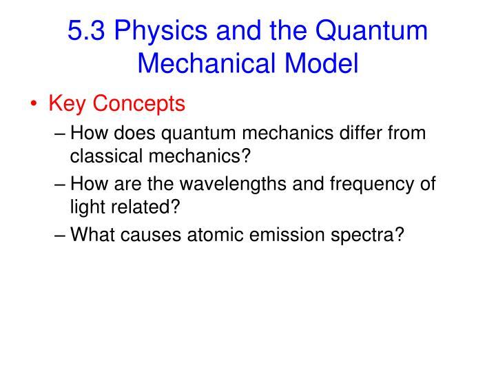 5.3 Physics and the Quantum Mechanical Model