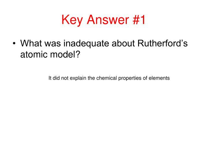 Key Answer #1