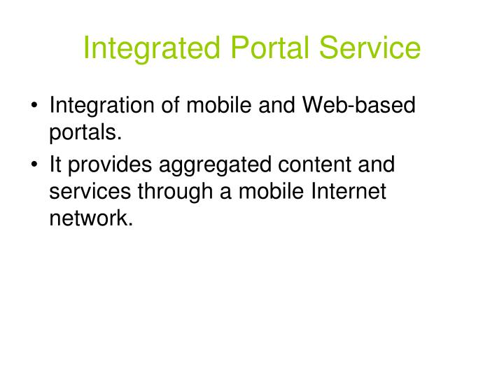 Integrated Portal Service