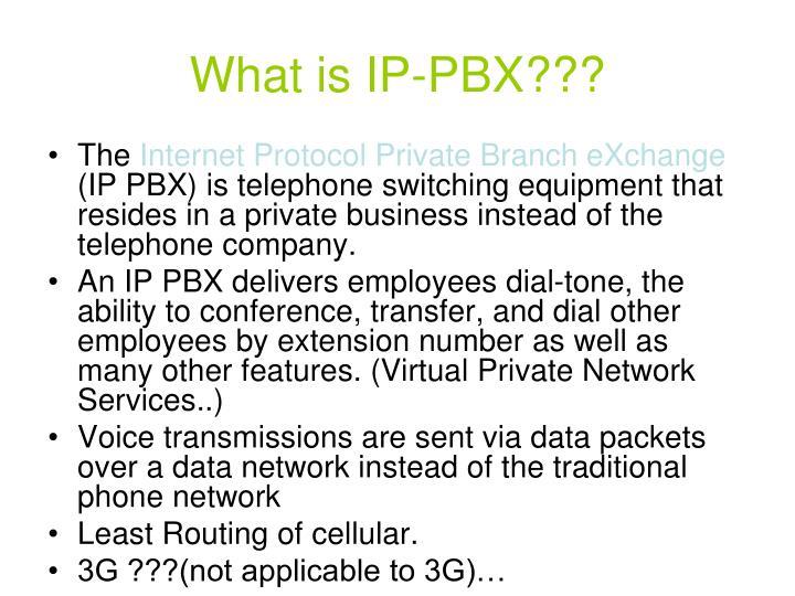 What is IP-PBX???