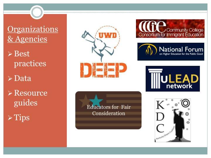 Organizations & Agencies