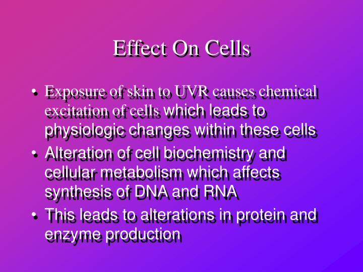 Effect On Cells