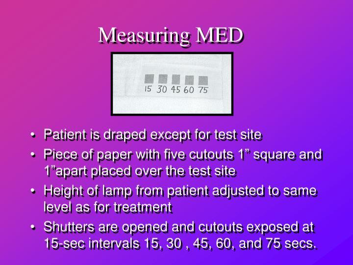 Measuring MED