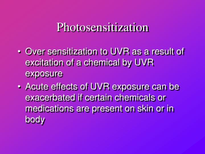 Photosensitization