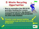 e waste recycling opportunities