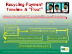 recycling payment timeline float