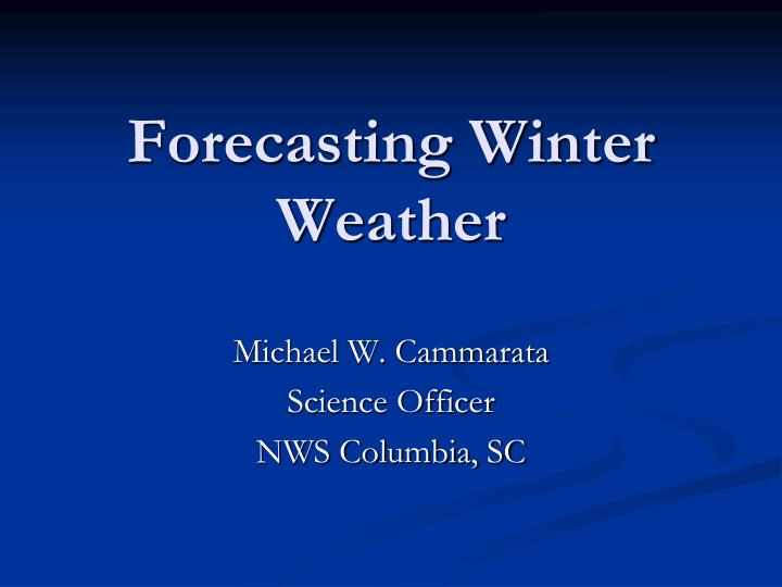 forecasting winter weather n.