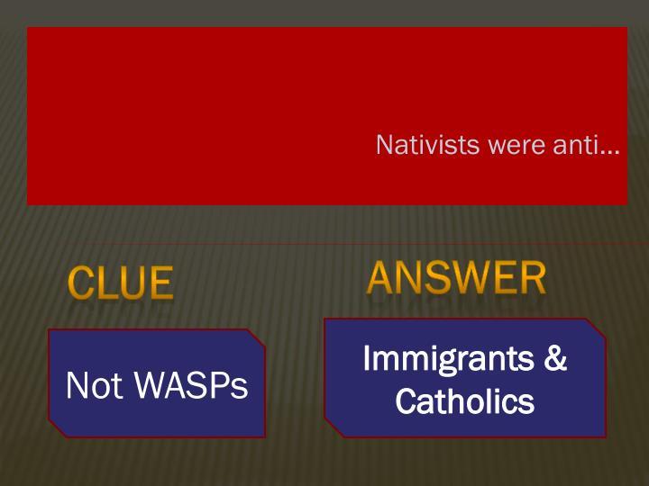 Nativists