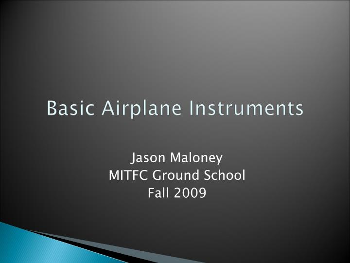 PPT - Basic Airplane Instruments PowerPoint Presentation - ID:6775379