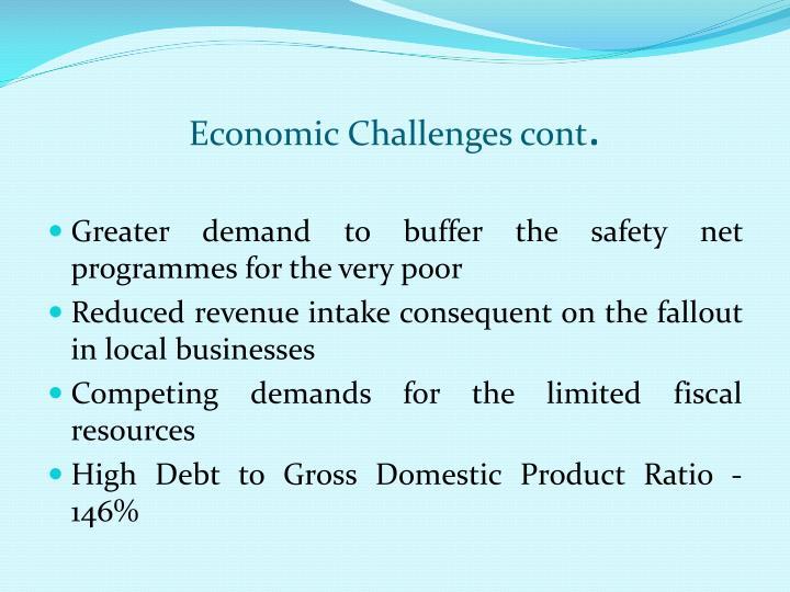 Economic Challenges cont