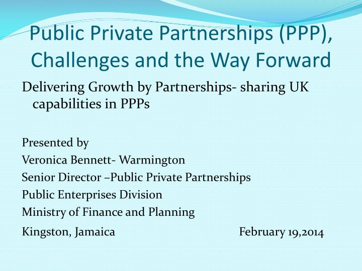 Public private partnerships ppp challenges and the way forward