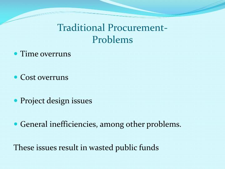 Traditional Procurement-