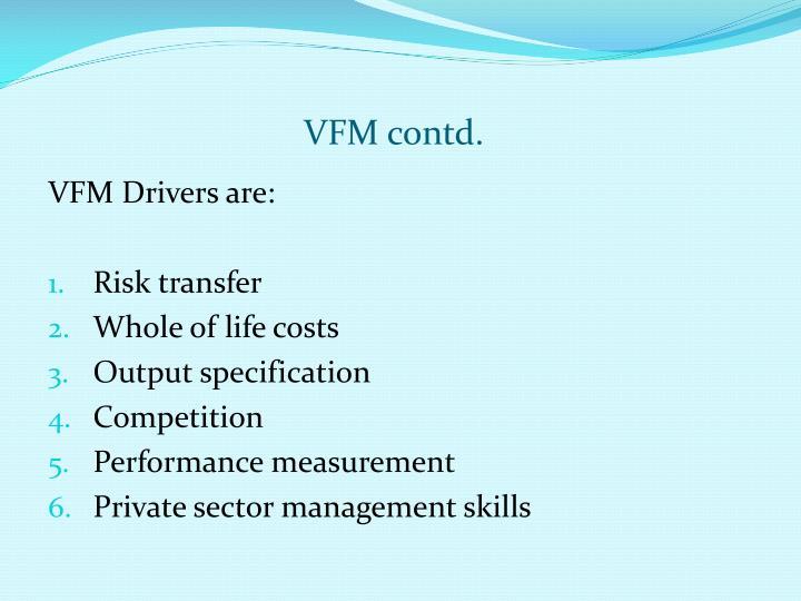 VFM contd.