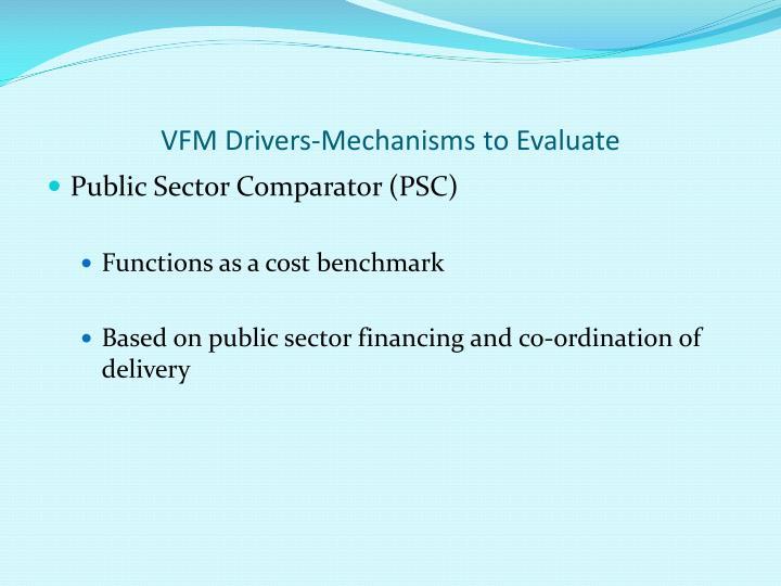 VFM Drivers-Mechanisms to Evaluate