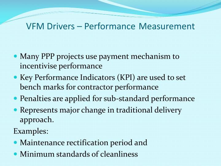 VFM Drivers – Performance