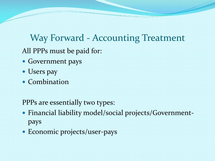 Way Forward - Accounting Treatment