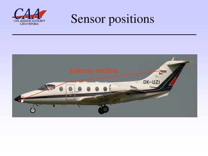 Sensor positions
