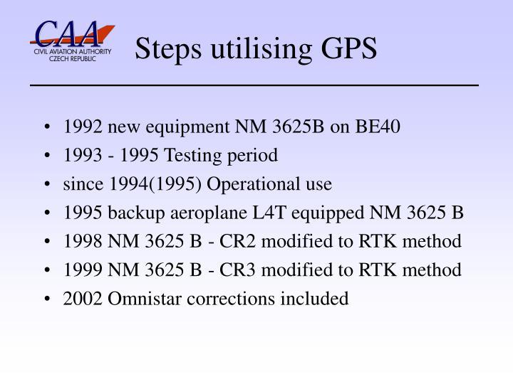 Steps utilising GPS