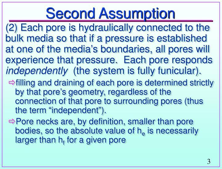 Second assumption