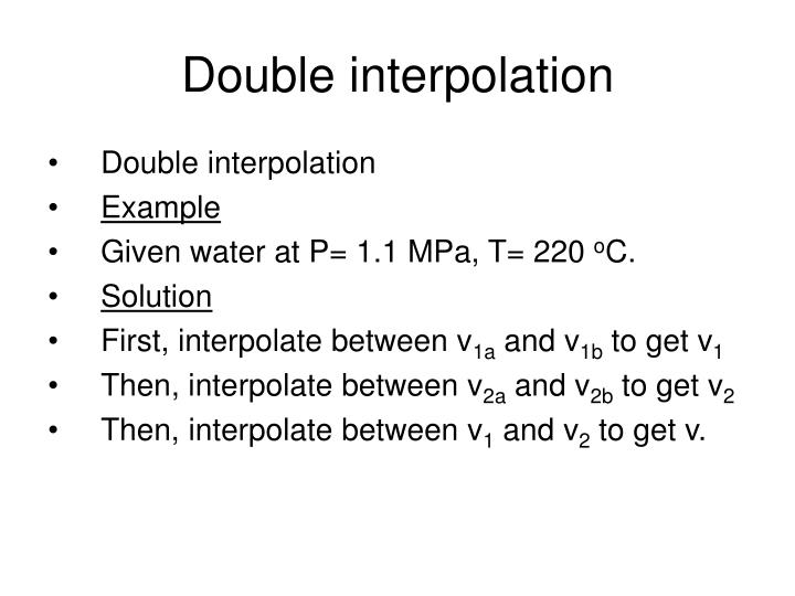 Double interpolation